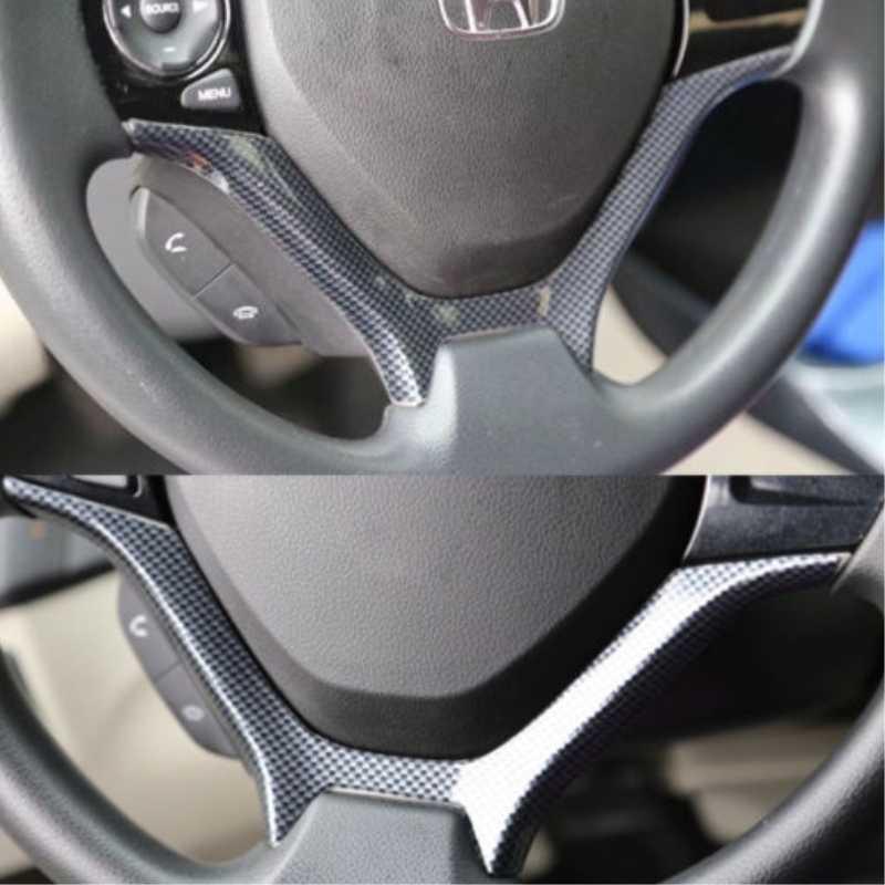 السيارات الداخلية القوالب عجلة القيادة ألياف الكربون اللون غطاء لوحة الكسوة مائي لهوندا سيفيك 2012-2015 سيارة التصميم سيارة يغطي