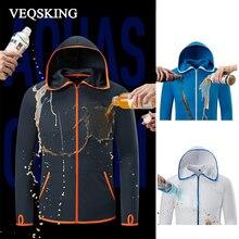 Водонепроницаемые ледяные шелковые походные куртки, рыболовная противообрастающая гидрофобная одежда повседневные куртки с капюшоном, уличные рубашки с длинным рукавом XL