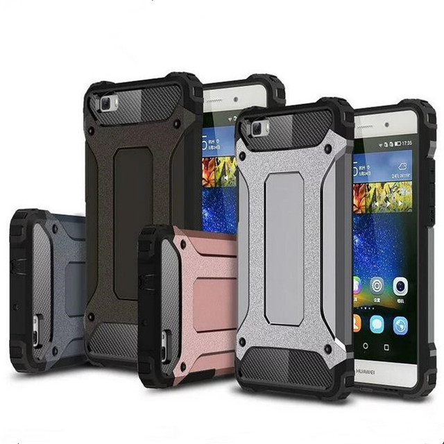 quality design 3f8bc cf517 US $1.98 |Hybrid Armor Case For Huawei 2017 P8 P9 P10 Lite Mate 8 9 Honor 7  8 5C V8 V9 5X 6X Nova Plus Magic Shockproof Cover Back Coque on ...