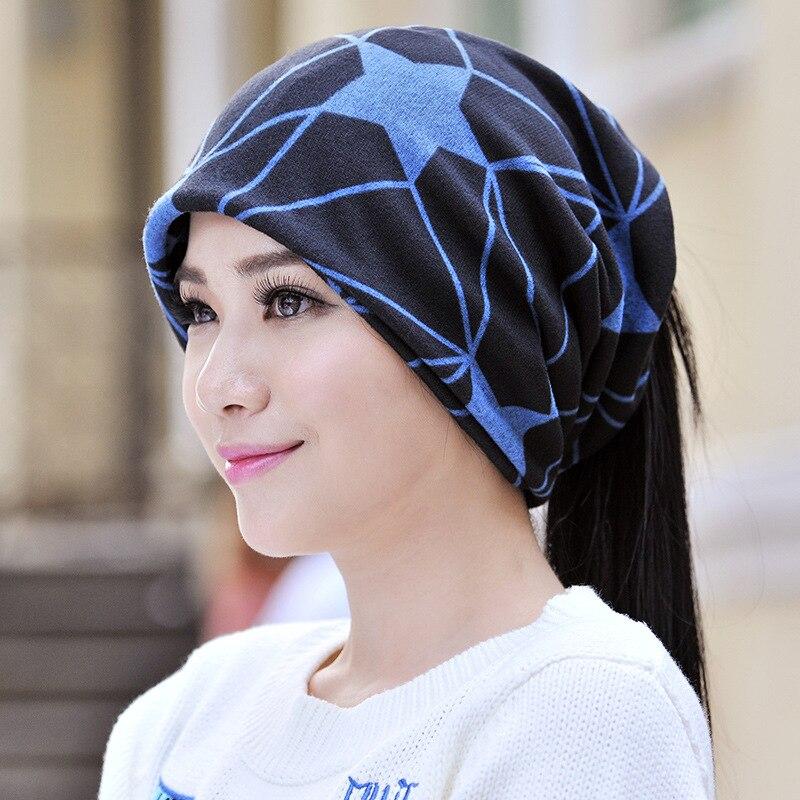 Cokk Winter Hat Female Turban Hats For Women Men Star Pattern