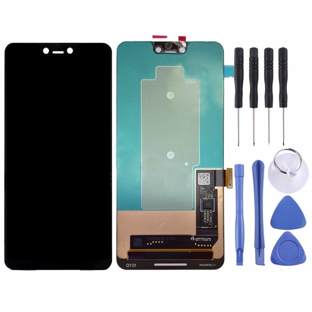 ЖК экран и дигитайзер полная сборка для Google Pixel 3 XL (черный)