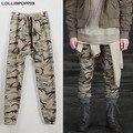 Mens Military Style Camouflage Harem Joggers Drop Crotch Male Camo Print Sweatpants Jogger Pants Streetwear Free Shipping