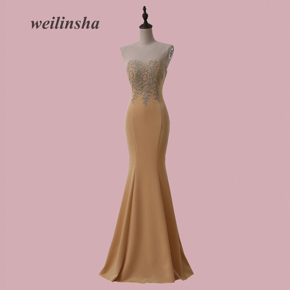 Weilinsha más tamaño en stock vestido de noche alta calidad Jersey ...