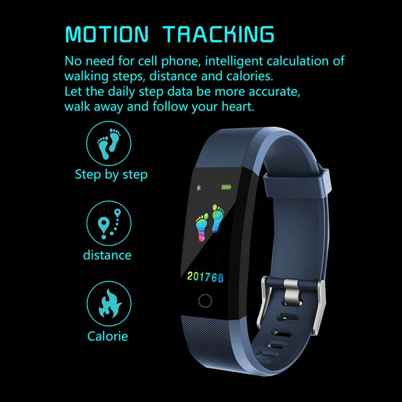 Image 5 - Smart Wristband Fitness Watch Heart Rate Blood Pressure Monitor, Pedometer for Boys and Girls, Smart Bracelet for Android iOS-in Smart Wristbands from Consumer Electronics
