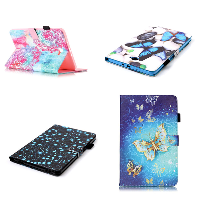 YB New OWI Butterfly Design PU Leather Case Cover For Samsung Galaxy Tab A A6 10.1 inch Tablet SM-T580 SM-T585 T580 Flip Shell yh printed flip stand skull cute owi leopard pu leather cover case for samsung galaxy tab e 9 6 inch tablet t560 t561 sm t560