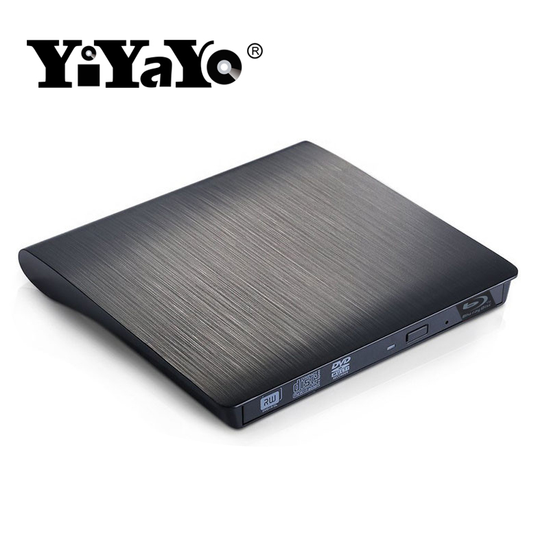 цена на YiYaYo 3D blu-ray drive External USB3.0 CD/DVD RW Burner BD-ROM Blu-ray Optical Drive Writer for Apple iMacbook Laptop Computer
