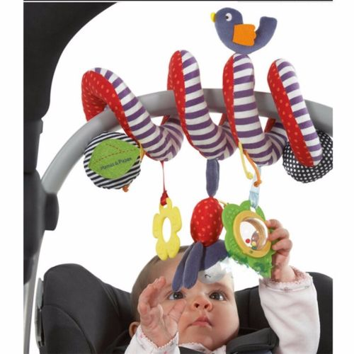 Newborn Baby Infant Music Hanging Bed Safety Seat Plush Toy Bell Multifunctional Toy Stroller Rattle Mobile Child Gifts