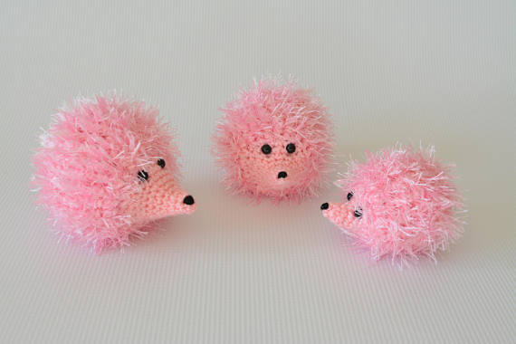 Crocheted Hedgehogs Rattle