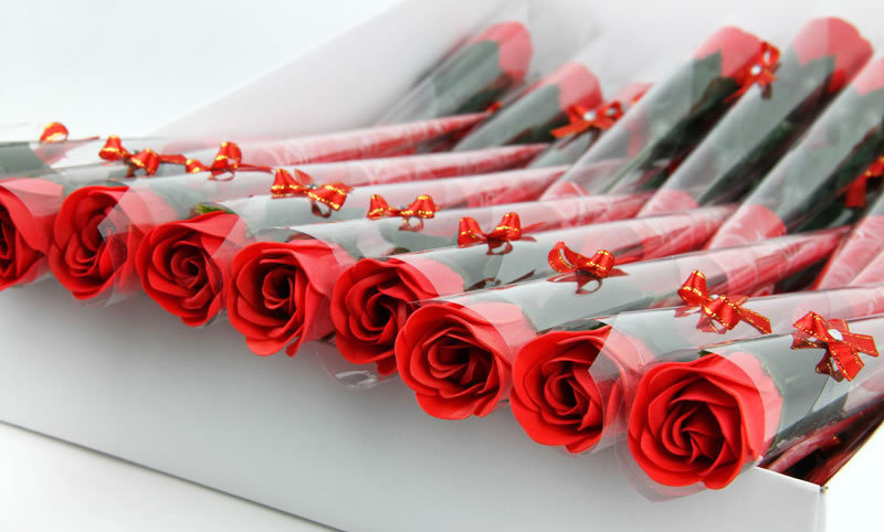 single rose flower soaps as wedding gift soap flowers 30pcs/lot 5, Ideas
