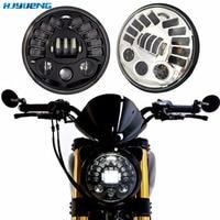 HJYUENG 80W 7inch Motorcycle Headlight Hi Lo Beam H4 Round 7Inch Car Headlights For BMW R