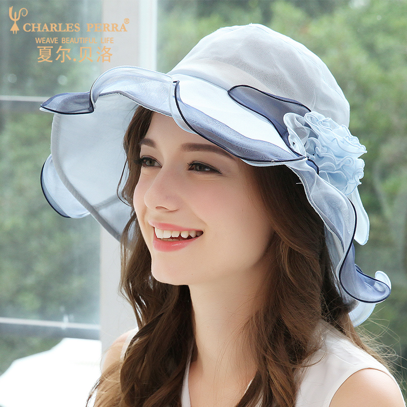 Printemps été pare-soleil femmes chapeau vacances élégant soie crème solaire plage chapeaux femme coréen élégant dames casquette Cool casquettes H6665