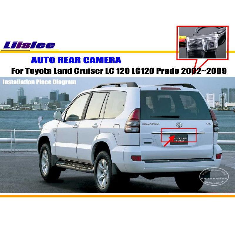 Liislee Voiture Caméra Pour Toyota Land Cruiser LC 120 LC120 Prado 2002 ~ 2009/Arrière Vue Caméra NTST PAL/Plaque D'immatriculation Lampe OEM