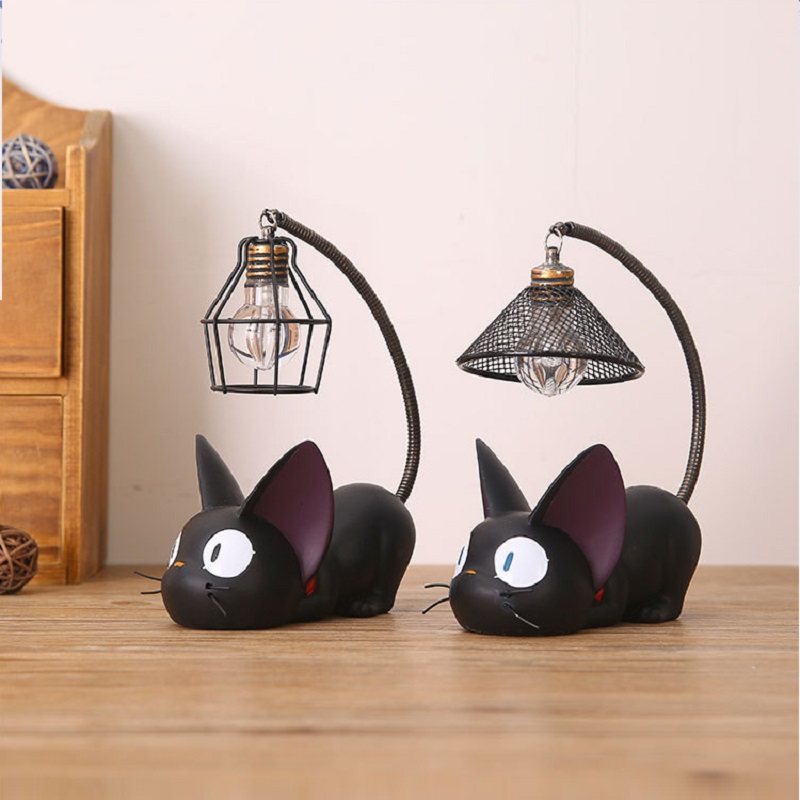 HJYVIOITN Cat Night Lamp Artpad Miyazaki Hayao Kiki Delivery Service Novelty Light Baby Child Boy Girl Bedroom Lighting Fixtures