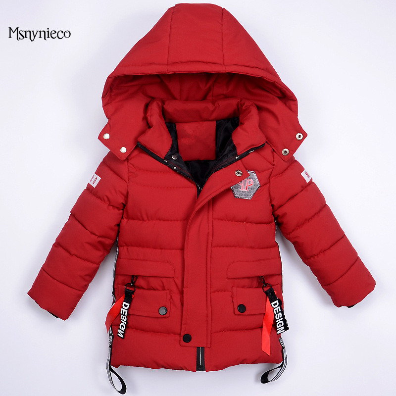 Boys Winter Jacket Casual Warm Thick Hooded Coat 2017 Brand Fashion Baby Boy Outerwear Toddle Infant Clothing Kids Clothes