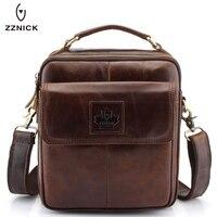ZZNICK Luxury Men S Genuine Cowhide Leather Messenger Bag Men Crossbody Shoulder Bag Briefcase Top Brand