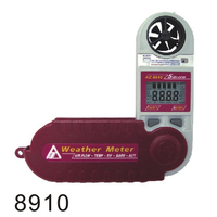 AZ8910 Mini Windspeed Meter Air Flow Pocket Loại Áp Suất Khí Quyển Tester Detector Độ Cao Độ Ẩm Máy Đo Gió Thời Tiết