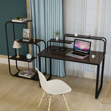 LK633 Desktop Computer Desk Student Learning Desk Creative MDF+metal Laptop Table Office Furniture 4 Layers Storage Shelf