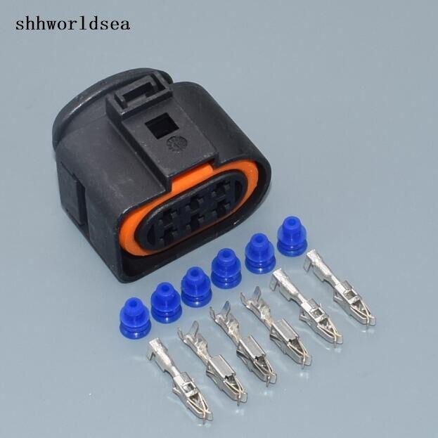 shhworldsea 30sets 6P 3 5mm Kit LSU 4 2 sensor connector case for VW 1J0973733 6