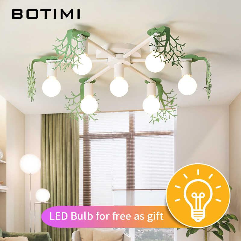 BOTIMI Креативный светодиодный потолочный светильник для гостиной Lamparas de techo спальня потолочный светильник зеленый блеск белые домашние люстры деко