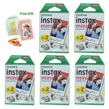 Fujifilm Instax Mini 9 film 100 arkuszy dla Fuji 7s 8 9 70 25 90 Polaroid 300 aparat natychmiastowy Liplay SP 1 SP 2 drukarka z prezentem