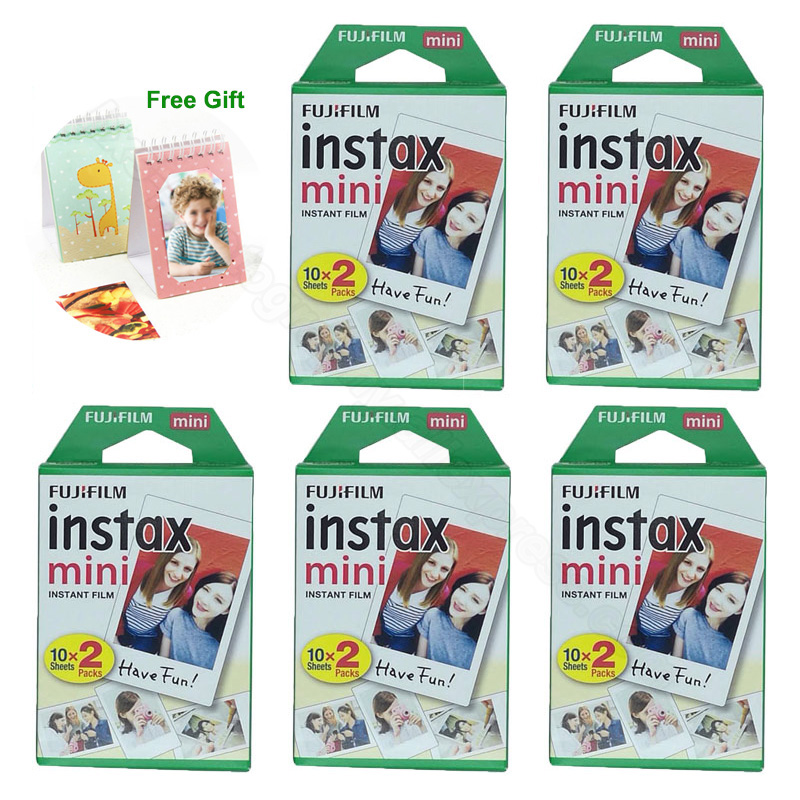 Fujifilm Instax Mini 9 film 100 feuilles pour Fuji 7 s 8 9 70 25 50 s 90 Polaroid 300 appareil photo instantané SP-1 2 imprimante avec Album cadeau
