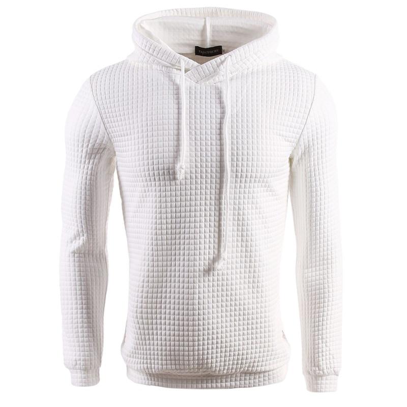 2018 New Autumn Winter Design Sweatshirt Hoodie Ripped Damage Solid Warm Men Color Fashion Sweatshirts Casual Pullover Hip Hop