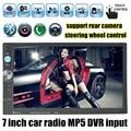 Рулевое колесо управления 2 din 7 дюймов сенсорный экран Двойного DIN MP5 MP4 Плеер Автомобиля стерео Радио Bluetooth FM/USB/TF/AUX DVR вход