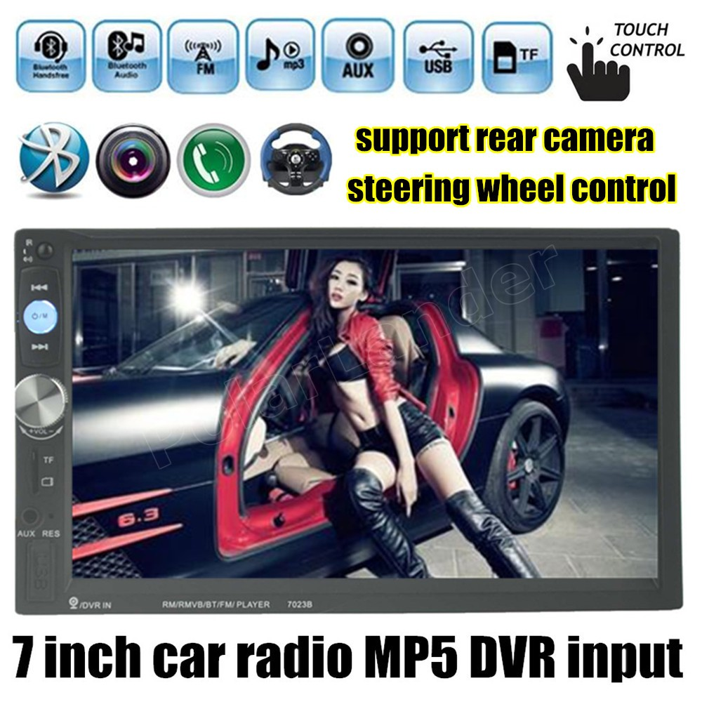 steering wheel control 2 din 7 inch touch screen Double DIN MP5 MP4 Player Car stereo