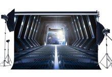 Космический корабль фон внутренний прохождение космический корабль земля светящаяся лампочка креативные угрюмые обои фон для фотосъемки