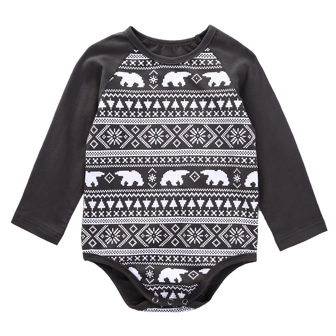 debf4be665ad Newborn Baby Boys Girls Bears Bodysuit 0-18M Infant Bebes Long Sleeve  Cotton Christmas Costume Clothing