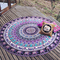 Charming Boho Purple Mandala Tapestry Beach Mat Lovely Printed Serviette Covers for Summer L38360-2