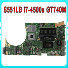 For ASUS S551LB S551LN R553L REV2.2 mainboard motherboard with i7-4500 cpu SR16Z 60NB02A0-MBC030-223 GeForceGT 740M Full Test