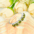 Promotion Jewelry Luckyshine Antique Square Fire Peridot Siver Plated Wedding Rings Russia USA Holiday Australia Rings