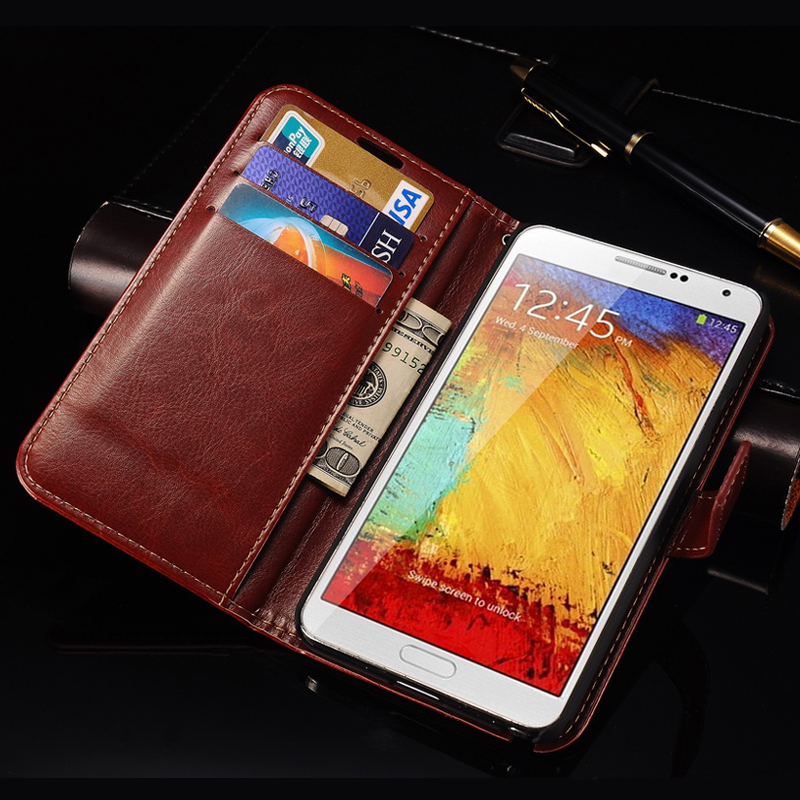 official photos 2a139 ec06f Case For Samsung Note 3 Flip Cover Wallet PU Leather Case for Samsung  Galaxy Note 3 III N9000 Phone Stand Design With Card Slot