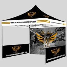 Торговая выставка 3 m x 3 m шатер с тентом беседка всплывающие палатки профессиональный тканый фон для фотографии на заказ Печать высокого прочная рама из алюминиевого сплава