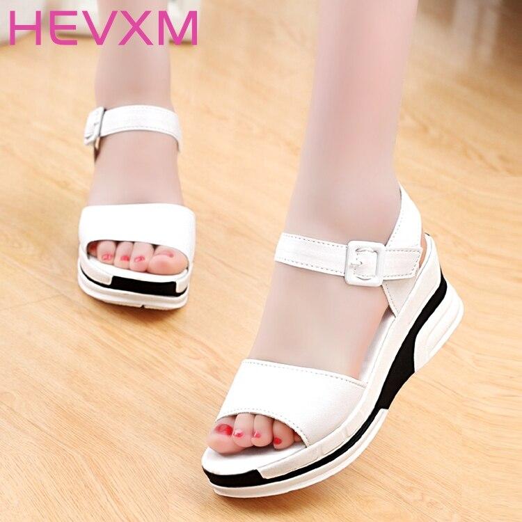 HEVXM New Hot Sale Women Summer Sandals Shoes Peep toe Low ...