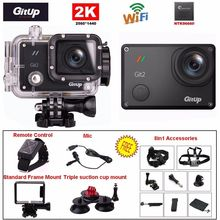 Free Shipping!Gitup Git2 16M Novatek NTK96660 1080P WiFi 2K Outdoor Sports Action Camera+Mic+Remote Control+8in1 Accessories