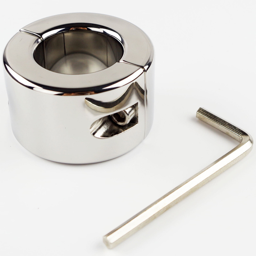 все цены на 980G(35oz)Extreme Stainless Steel Polish Ball Stretcher Men Fetish Cock Ring Scrotum Testicle Stretched Cuff Sex Toy