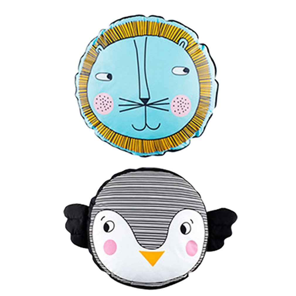Eco-Friendly Cotton Baby penguin lion Pillow Baby Bolster Cartoon Pattern Waist Cushion Kids Sleep Infant Room Decoration Gift