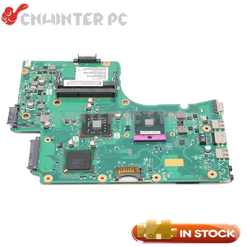 NOKOTION Laptop Motherboard For Toshiba Satellite C650 C655 MAIN BOARD V000225020 GL40 DDR3 Free CPU