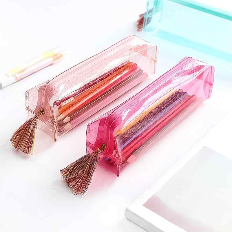 PU лазерный кожаный пенал тканевый пенал для карандашей etui a crayons cuir пенал для карандашей stifte tasche пенал школьная сумка Плюмье 04922