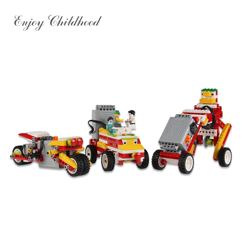 239pcs Children Power Machinery Learning Smart Kit Puzzle Pack Toy Gift Power Edition Legoings Juguetes Educativos