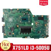 YTAI I3 5005U 4G RAM For ASUS X751L K751L K751LN X751LD Motherboard REV2 5 With I3