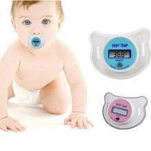 New Practical Health Monitors Baby Infants Nipple Pacifier Thermometer Temperature Celsius LCD Digital Mouth Nipple KF980