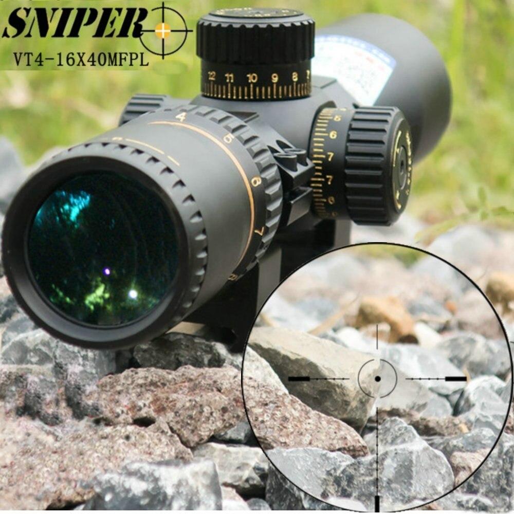 Retícula de visión óptica táctica Riflescopes de plano Focal de francotirador VT 4-16X40 MFPL Frist