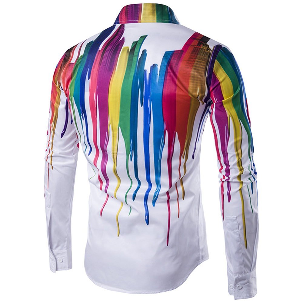 31060873c28 Brand New Fashion Men Shirt Long Sleeve 3d Splash Ink Print Mens Shirts  Casual Plus Size Dress Man Shirt Camiseta Masculina-in Casual Shirts from  Men s ...