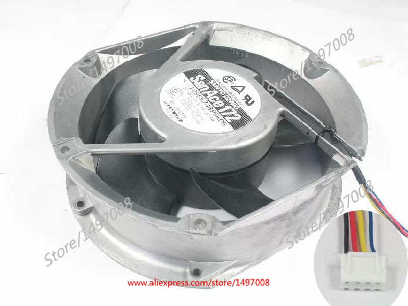 SANYO 109E5748P5K06 DC 48V 0.7A, 4-pin , 172x172x51mm Server Square fan