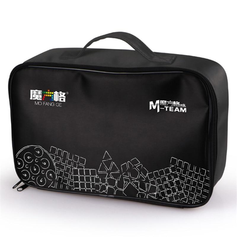 QIYI MoFangGe Black Cubes Bag M-Bag Handbag Magic Cubes Shoulder Bags for 2x2 3x3 4x4 5x5 Skew Pyramid Mega Cubes Bags 8pcs set shengshou s magic cubes 3 3 2 2 2x2 3x3 skew sq1 megaminx mastermorphix triangle pyraminx mirror rubix rubic cube