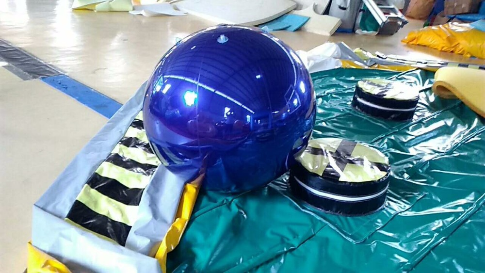 1M Blue Inflatable Mirror Ball / Inflatable Advertising Ball For Christmas-in Inflatable ...