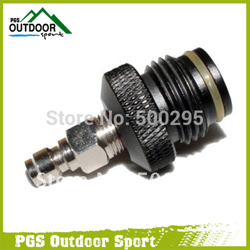 Paintball ASA Adapter To Coil Remote Hose Line With Male Quick Disconnect